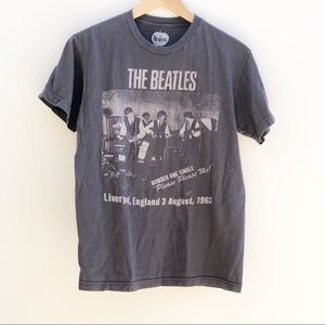 The Beatles Gray Gray Graphic Tee S